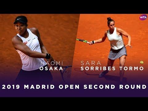 Naomi Osaka vs. Sara Sorribes Tormo | 2019 Madrid Open Second Round | WTA Highlights