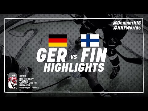 Game Highlights: Germany vs Finland May 13 2018 | #IIHFWorlds 2018