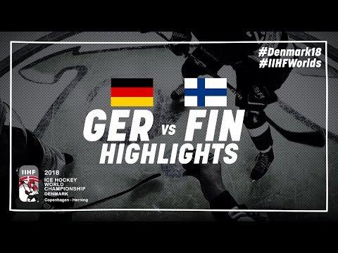 Game Highlights: Germany vs Finland May 13 2018 | #IIHFWorlds 2018