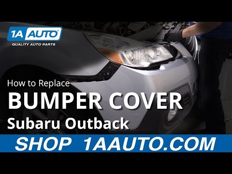 How to Replace Bumper Cover 10-14 Subaru Outback