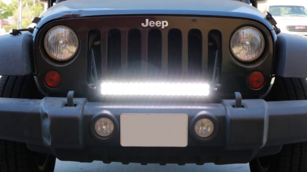 Ijdmtoy 2007 2016 jeep wrangler jk led light bar youtube ijdmtoy 2007 2016 jeep wrangler jk led light bar aloadofball Gallery