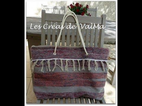 sac tapis r cup 39 version 2 sac de plage cabas tuto couture valma youtube. Black Bedroom Furniture Sets. Home Design Ideas
