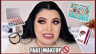 Full Face Using FAKE Makeup!