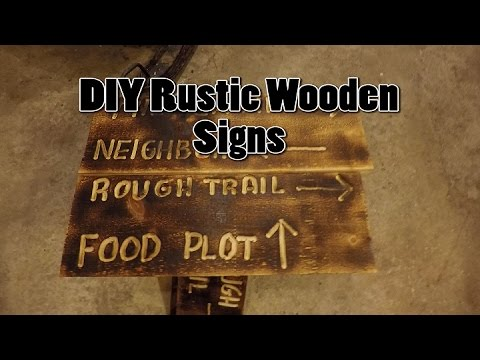 DIY Rustic Wooden Signs