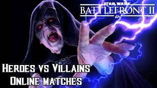Star wars Battlefront 2 Palpatine gameplay : Heroes vs villains online battles ( No cards )