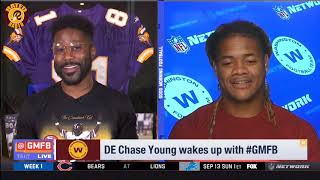 Washington DE Chase Young Wakes up With GMFB | Redskins