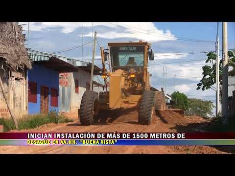 INICIAN INSTALACIÓN DE MÁS DE 1500 METROS DE DESAGÜE EN AA HH  BUENA VISTA