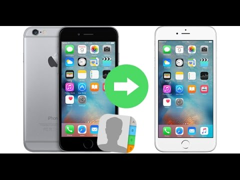 move contacts from iphone to iphone