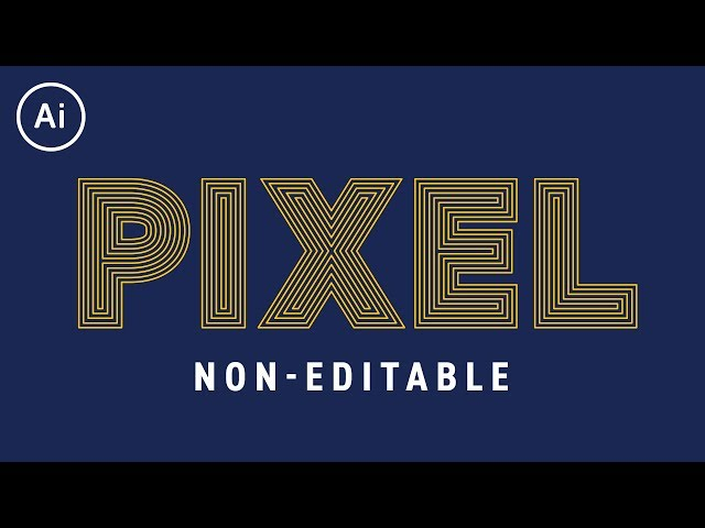 Non-Editable Offset Path Effect | Illustrator CC Tutorial