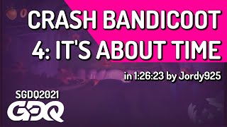 Crash Bandicoot 4: It's About Time by Jordy925 in 1:26:23 - Summer Games Done Quick 2021 Online