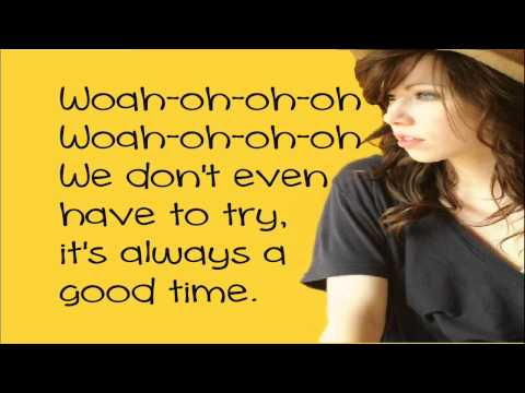 Owl City Feat. Carly Rae Jepsen - Good time (Lyrics On Screen)