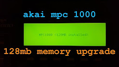 Akai MPC 1000 128Mb memory upgrade