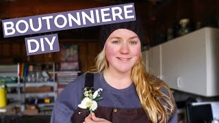DIY BOUTONNIERE | H๐w to make a boutonniere with fresh flowers in easy to follow steps