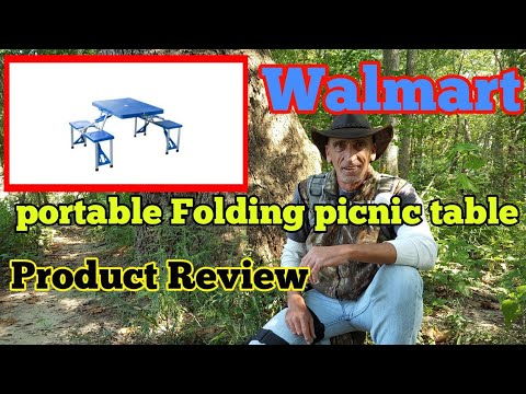 Suitcase Portable Folding Picnic Table From Walmart