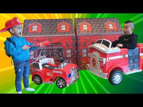 Fire Trucks Ride On Pretend Play Rescue Mission Fun CKN Toys