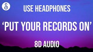 Ritt Momney - Put Your Records On [TikTok remix] (8D AUDIO)