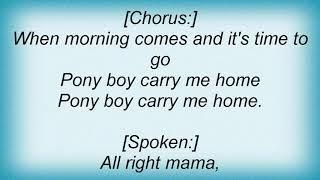 Allman Brothers Band - Pony Boy Lyrics