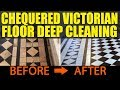 Victorian Chequer Tiled Hallway Floor Deep Cleaned in Cardiff