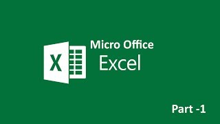 #Microsoft Office #Excel #Learning l Part   01