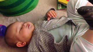 Funny sleeping baby