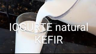 Iogurte de Kefir Natural com Bananas