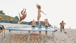 HAWAII: TRAMPOLINE ON THE BEACH!!