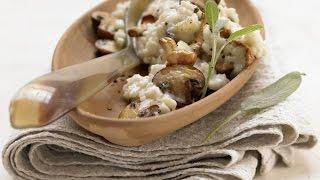 Ризотто с грибами рецепт. Итальянское блюдо из риса.