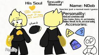 Ref sheet for my Roblox oc