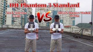 DJI Phantom 3 Standard Stock Antenna VS ARGtek Power Booster Module Kit