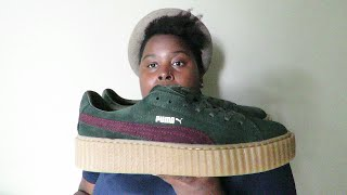 "Puma Fenty by Rihanna Suede Creeper ""Green"""