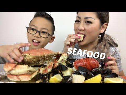 SEAFOOD BOIL | Mukbang | N.E Lets Eat