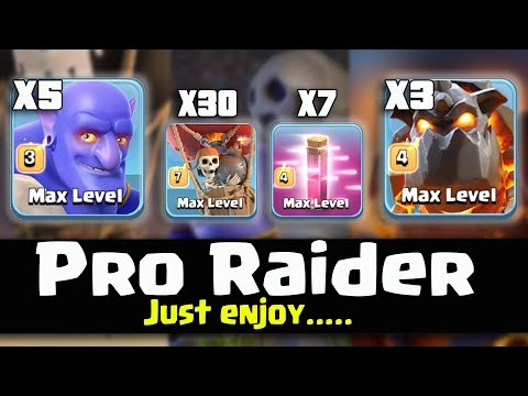 7 HASTE SPELL+5 BOWLER+3 LAVA +30 BALLOON= PRO RAIDER Just Enjoy The ATTACK | TH11 BEST WAR STRATEGY