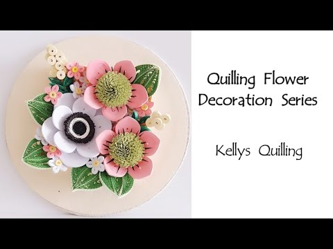 paper quilling flower decoration learning video 2 paper quilling art paper flower