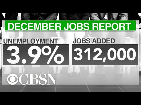 U.S added 312,000 jobs in December amid tumultuous stock market