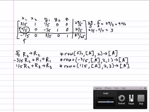 simplex problem solving