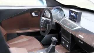 видео как сделать машину из бумаги