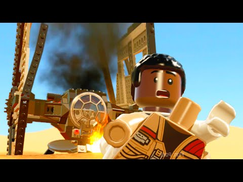LEGO Star Wars The Force Awakens Part 3 Walkthrough Finn Escapes w/ Poe - Escape From the Finalizer