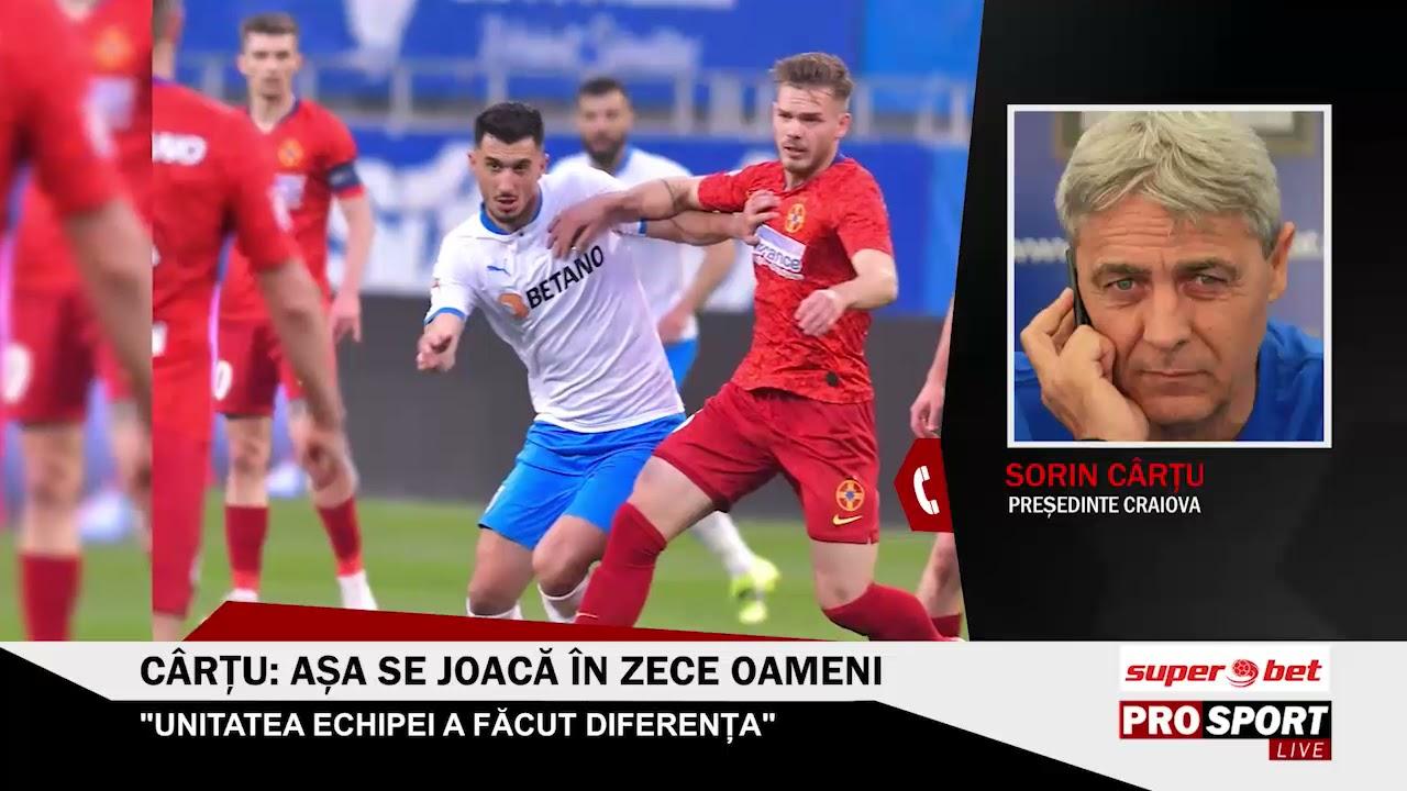 Sorin Cârţu, după Craiova - FCSB 2-0: