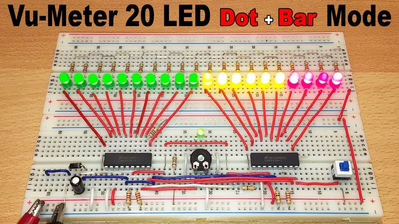 Vu Meter 20 Led Dot Bar Mode With Lm3915 Electric Diagram In So Now The Schematic Of Graph Circuit Will Look Like Electronicprojects Vumeter
