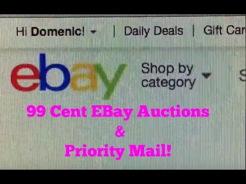 99 Cent EBay Auctions Priority Mail
