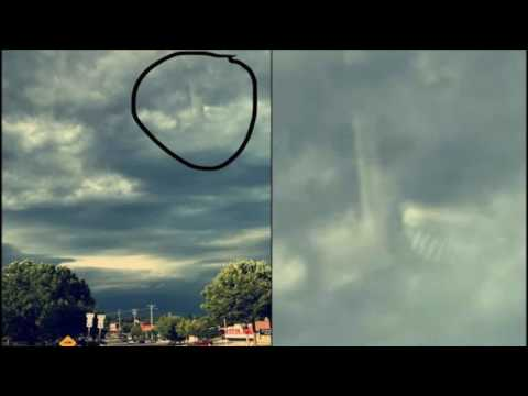 Mysterious Structure and Stairway appears in the clouds over Larural, Maryland