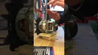Essai moteur électrique tondeuse