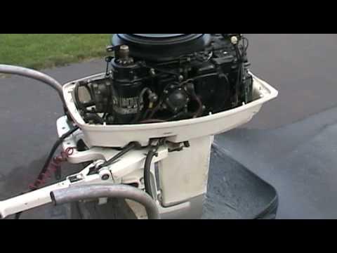 1988 Johnson outboard motor 30 hp idling  YouTube