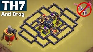 BEST UNDEFEATED Town Hall 7 (TH7) War Base | ANTI DRAG GUARANTEED | AIR SWEEPER | Clash of Clans