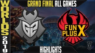 G2 Vs Fpx Highlights All Games | Worlds 2019 Grand-final | G2 Esports Vs Funplus Phoenix