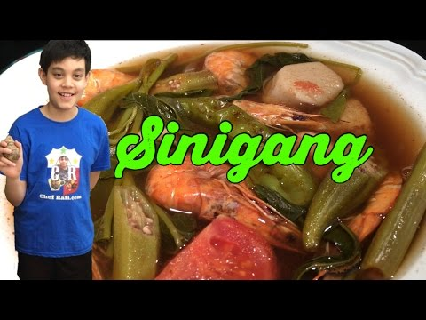 Shrimp Sinigang (in English and Palauan)