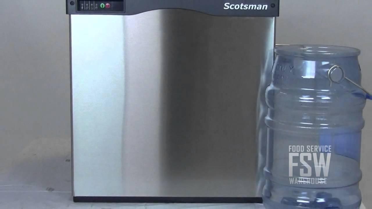 Pebble Ice Machine Scotsman N0422w 1a 455 Lb Nugget Ice Machine Youtube