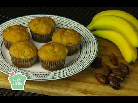 Banana and Dates Muffins - Episode 118 - Amina is Cooking
