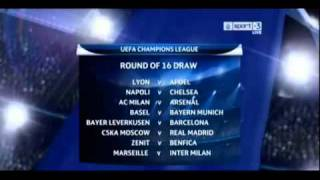 UEFA CHAMPIONS LEAGUE - ROUND OF 16 DRAW