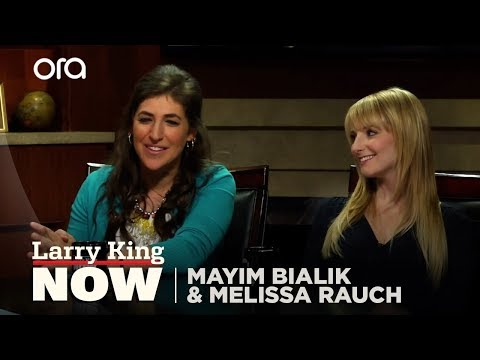 Mayim Bialik and Melissa Rauch of The Big Bang Theory on